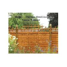 Forest Garden Convex Trellis Fence Topper In Fsc Approved Timber