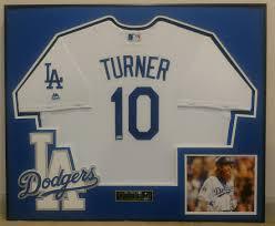 Justin Turner Framed Jersey