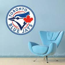Baseball Team Toronto Blue Jays Logo Sport Wall Sticker Etsy