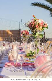 white table decorations outdoor garden