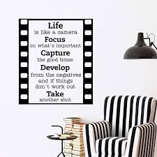 Motivation Wall Decal Quote Life Is Like A Camera Wall Decals Removable Vinyl Lettering Wall Sticker Home Decor Living Room J102 Decoration Living Room Home Decor Living Roomstickers Home Decor Aliexpress