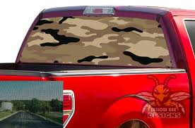 Brown Army Rear Window Decals Perforated Stickers Ford F150