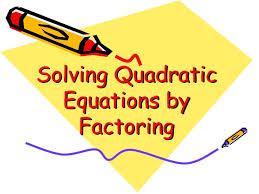 ppt solving quadratic equations by