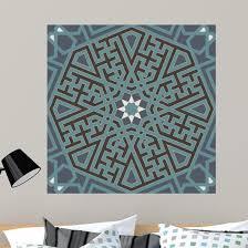 Seamless Arabesque Tangled Line Pattern Wall Decal Wallmonkeys Com