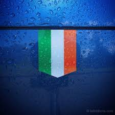 Flag Of Ireland Car Sticker Tailribbons