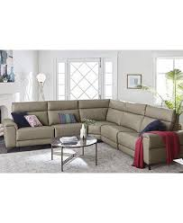 raymere 6 pc leather sectional sofa