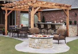 tall round outdoor fire pit kit