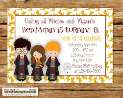 Invitacion De Harry Potter Invitacion De Cumpleanos De Harry