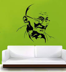 Buy Hoopoe Decor Mahatma Gandhi Vinyl Wall Sticker Decal Online People Places Decals Decals Home Decor Pepperfry Product