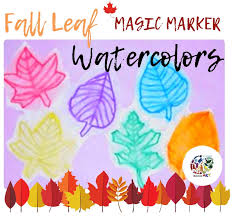 fall leaf watercolors painting lesson