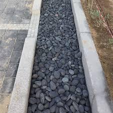 grey pebble stones for garden decor