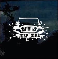 Jeep Girl A4 Jeep Decal Stickers Aftermarket Replacement Non Factory Custom Sticker Shop