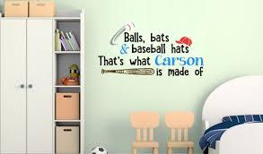 Baseball Decal Baseball Sticker Name Decal Name Sticker Etsy
