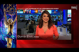 Dunia Elvir accepts an award at the 2020 Los Angeles Area Emmy Awards which  streamed on Emmys.com on Saturday, July 18, 2020. | Television Academy