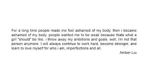 quotes amber liu ini mengajarkan kita untuk mencintai diri sendiri