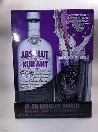 absolut vodka kurant edition giftpack