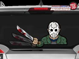Wipertags Unleashes Halloween Line With Freddy And Jason Windshield Wiper Decorations Bloody Disgusting