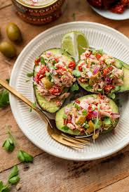 Tuna Avocado Boats - A Beautiful Plate