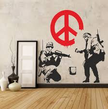Pin On Banksy Wall Vinyl Stickers