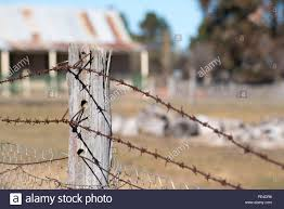 Barbed Wire Fence Old High Resolution Stock Photography And Images Alamy