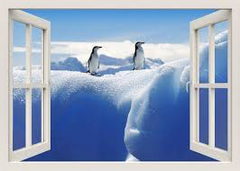 Antarctica Animals 3d Window Wall Decal Penguins Wall Decal Etsy