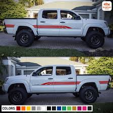 Amazon Com Set Of Side Bed Door Stripes Decal Sticker Graphic Compatible With Toyota Tacoma 2nd 3rd Gen Automotive