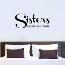 Sister Wall Decal Family Wall Quote Sign Vinyl Sticker Lettering Love Siblings Best Friends Home Decor Livingroom C077 Wall Stickers Aliexpress