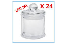 glass apothecary candy jar with lid