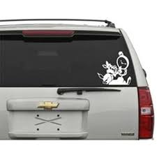 Amazon Com Alice In Wonderland Rabbit Vinyl Decal Car Sticker In White Home Improvement
