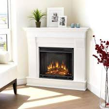 white corner electric fireplaces