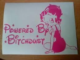 Betty Boop Powered By Bitchdust Pink Girls Vinyl Car Sticker Funny Decal Rear Vw Ebay Car Stickers Funny Funny Decals Vinyl Car Stickers