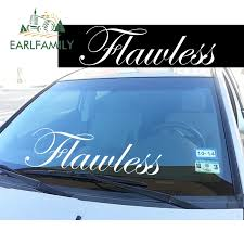 Earlfamily 84cm X 20 32cm Flawless Windshield Banner Jdm Low Car Decal Front Windshield Sticker Waterproof Big Car Sticker Car Stickers Aliexpress