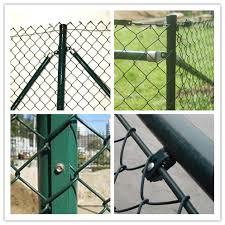 Dark Green Residential Chain Link Fence 5ft For Home Garden Courtyard Villa
