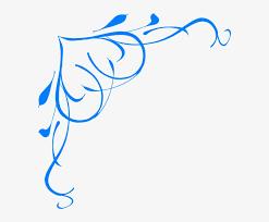 blue flower clipart blue scroll