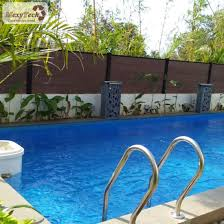China Outdoor Durable Wpc Privacy Fence For Swimming Pool China Wpc Fence Fence