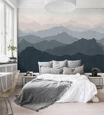 Mountain Mural Wall Art Wallpaper Peel And Stick Wall Art Wallpaper Wall Decor Bedroom Mountain Mural