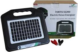 Suregreen Electric Fence Energiser Solar Powered 0 2j Power Unit With Rechargeable Battery Fortis Energizer Ce And Rohs Approved With 24 Month Warranty Amazon Co Uk Garden Outdoors