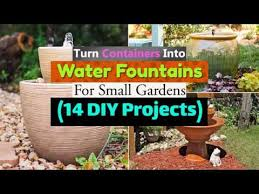 14 diy container water fountain ideas