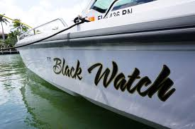 Custom Vinyl Boat Lettering On The Spot Designers Decals Stickers