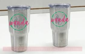 Tumbler Stickers Name Initial Arrows In Circle Vinyl Decals For Personalized Yeti Rtic