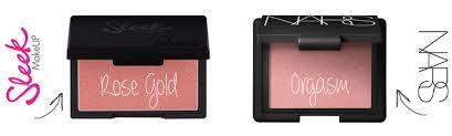 nars dupe sleek makeup rose gold