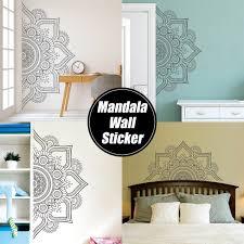 2 Sizes Mandala In Half Wall Sticker Removable Wall Decal Sticker For Meditation Ebay