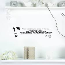 Amazon Com Vioup Wall Decal Removable Quote Decor Design Decal Ike A River Flows Elvis Presley Song Lyrics Vinyl Wall Art Sticker Quote Home Kitchen