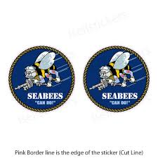 Mini Usn Navy Seabees Military Bumper Sticker Vinyl Window Decal We Build We Fight