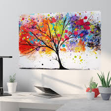 Latitude Run Wade Rainbow Tree Ii Removable Wall Decal Reviews Wayfair