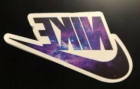 Galaxy Nike Logo Humor Skateboard Laptop Decal Sticker