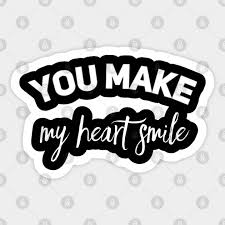 You Make My Heart Smile Inlove Sticker Teepublic