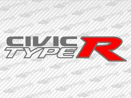 Honda Civic Type R Decal Stickers