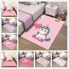 Pink Cartoon Unicorn Pattern 3d Carpets Child Bedroom Play Rug Kids Room Decor Carpet Baby Crawl Mat Children Christmas Gift Rug Carpet Aliexpress