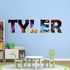 Custom Name Decal Outer Space Galaxy Wall Art Decor Etsy